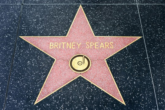 Étoile de Britney Spears sur le Walk of Fame à Hollywood