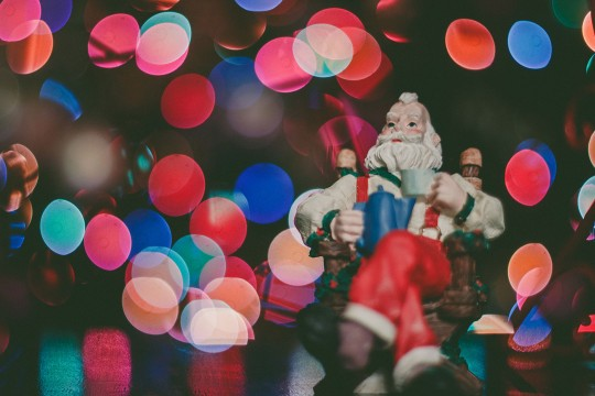 Santa Claus with lights