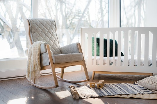 Chair and crib