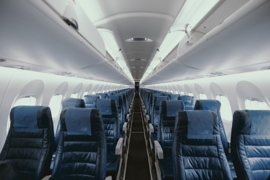 Empty airplane