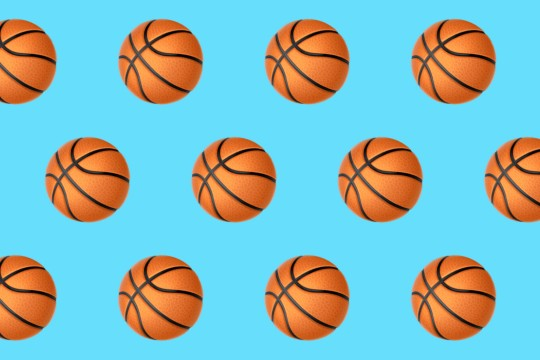Basketball emoji repeated on background