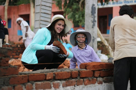 Our NATIONAL Montreal colleague Amélie Forcier hard at work in India.