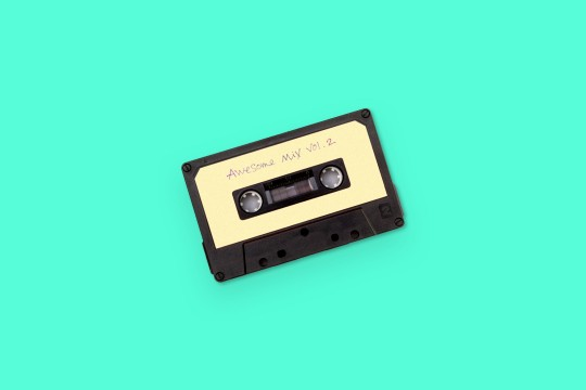 Cassette tape on background