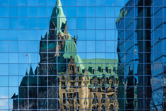 Reflection of Parliament in Ottawa