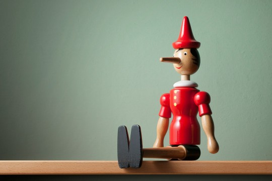 Pinocchio on a shelf