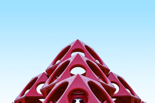 Red geometric playground