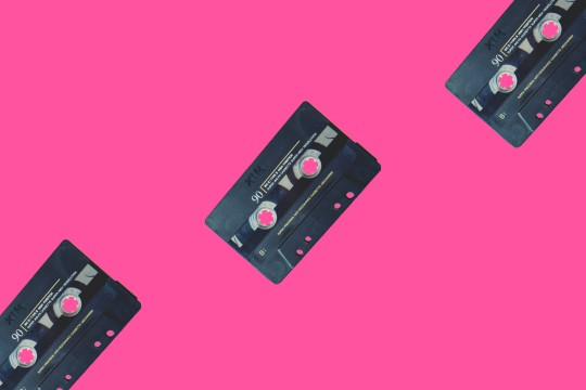 Cassette repeated on background