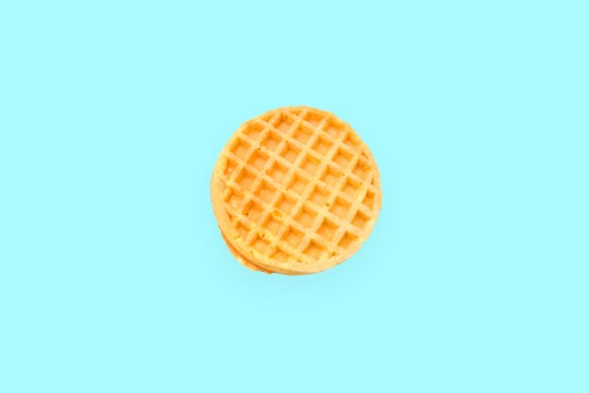Waffle on a background