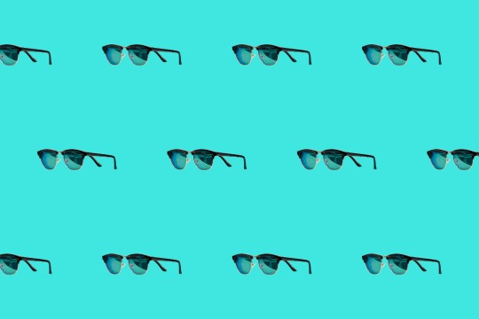 Sunglasses repeated on background
