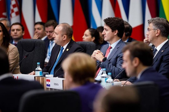 Justin Trudeau at the NATO Leaders Meeting