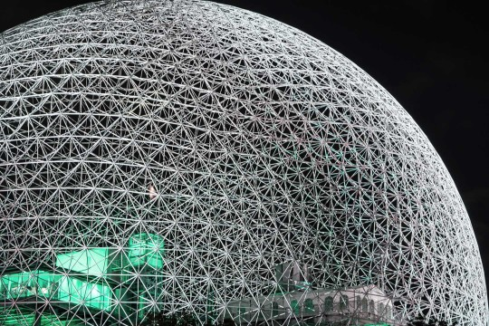 Night shot of Montreal's Biosphere