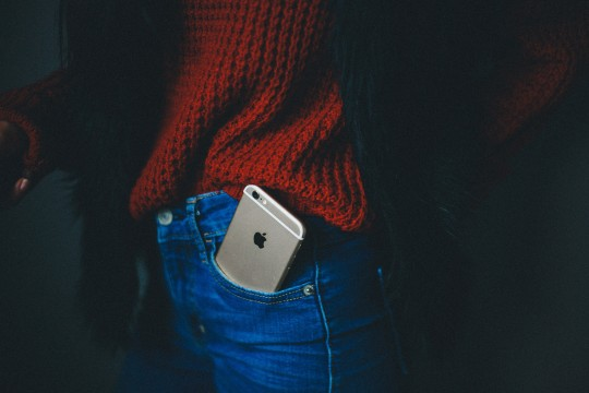 iPhone in front jean pocket