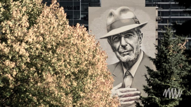 Mural tribute to Canadian icon Leonard Cohen