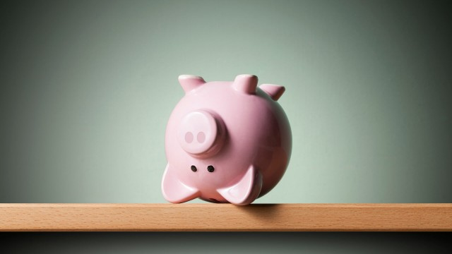 upside down piggy bank