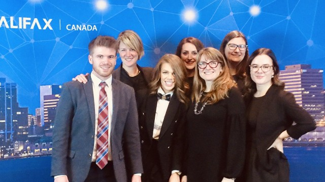 The team from NATIONAL's Halifax office at the Game Changers Gala
