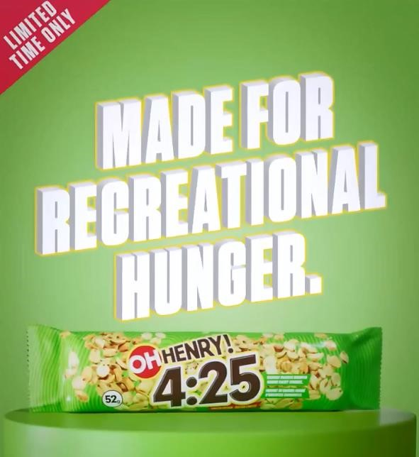 Oh! Henry 4:25 candy bar